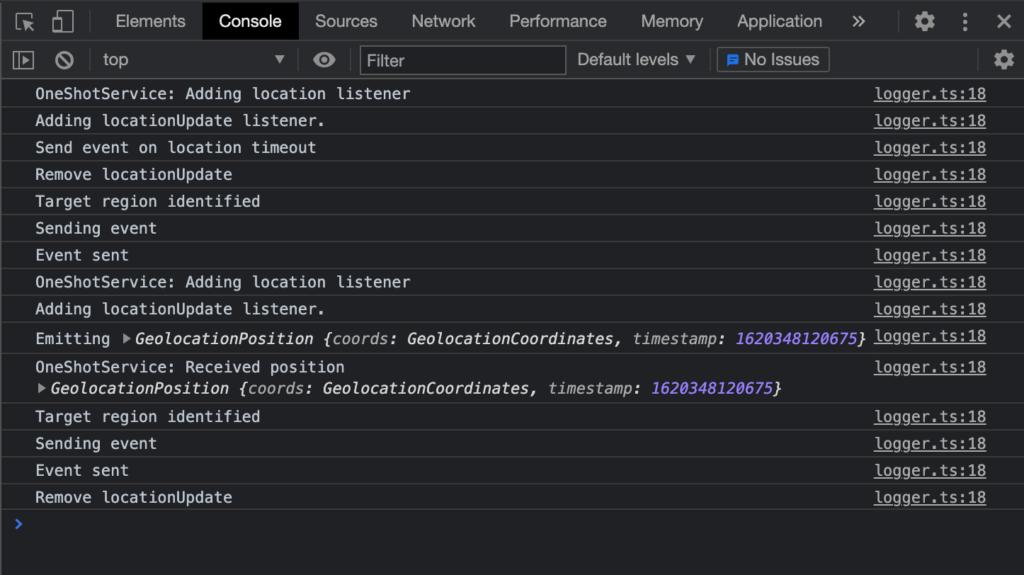 Web SDK Debug mode example